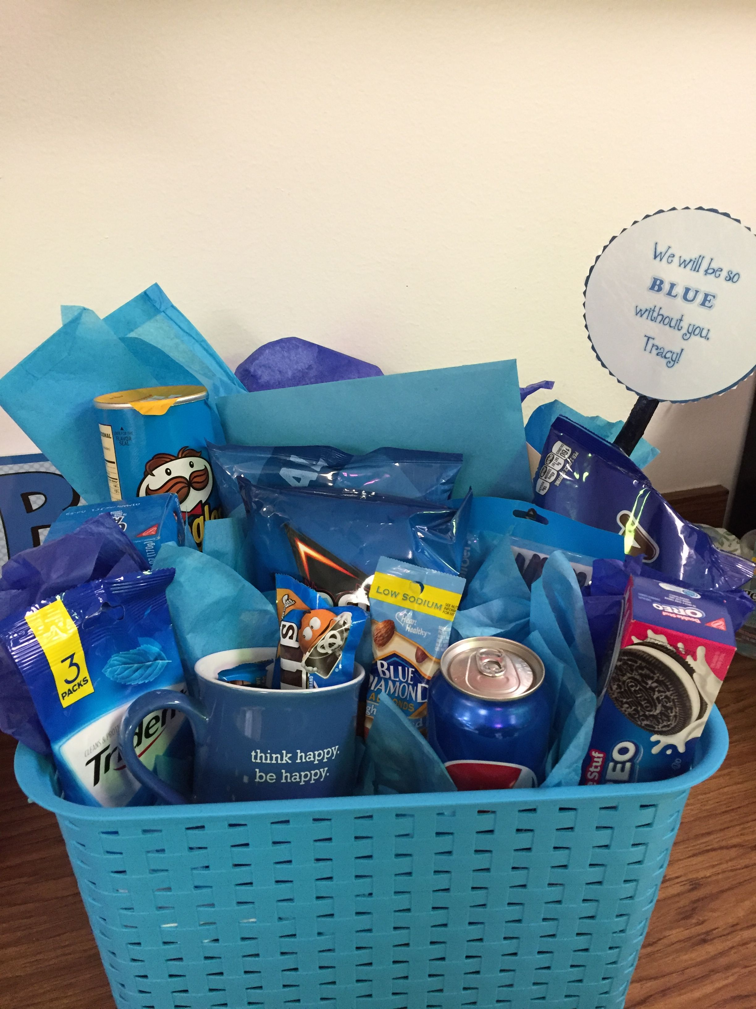 coworker leaving blue without you going away basket