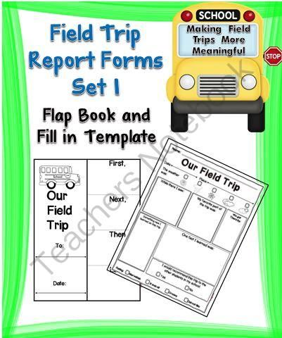 Field Trip Report Forms Set  From A Teacher In Paradise On