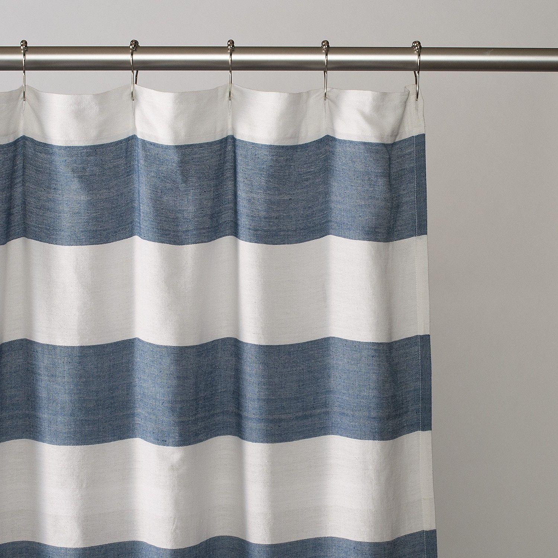 Aqua chevron shower curtain - Nautical Striped Shower Curtains Image Gallery Of Nautical Stripe Shower Curtain