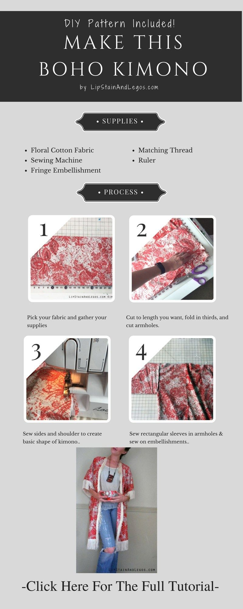 How To Make A DIY Kimono In 5 Simple Steps | Do It Yourself Today ...