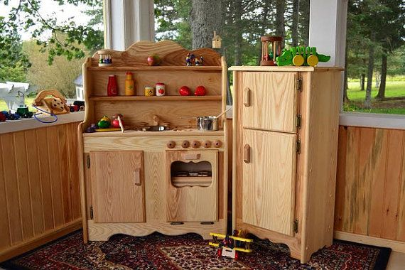 Waldorf Wooden Play Kitchen Natural Toy Kitchen Wooden Toys Etsy