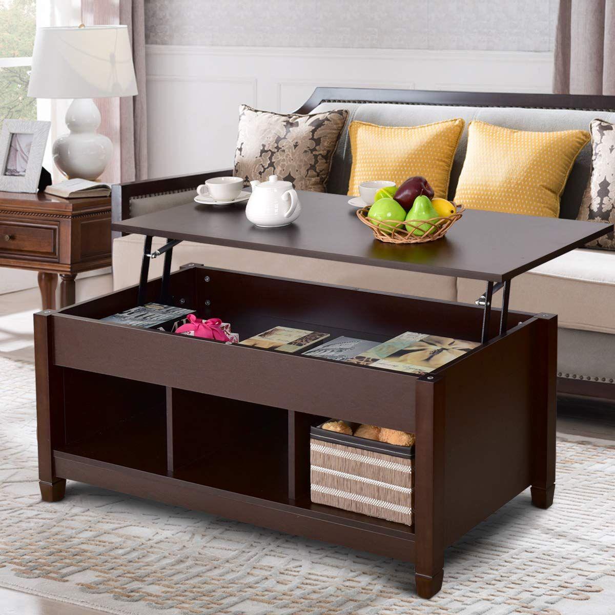 Amazon Com Tangkula Coffee Table Lift Top Wood Home Living Room