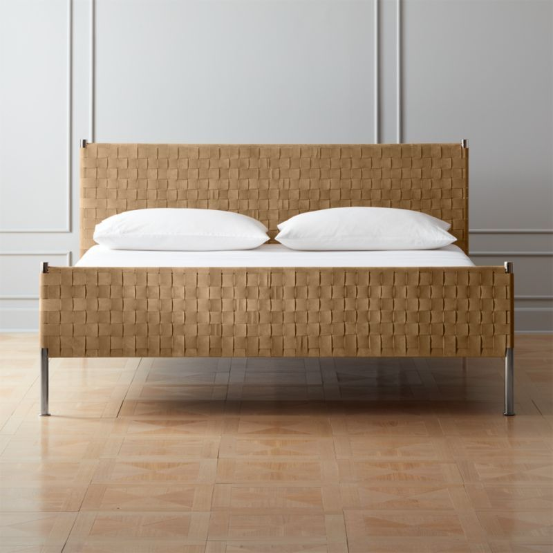 Woven Brown Suede King Bed Reviews In 2020 With Images Bed
