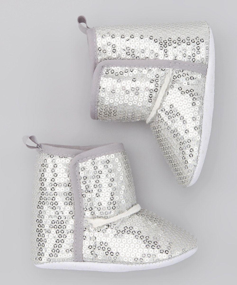 Silver Sequin Boots. Loves These, Have One in Pink For my Daughter......