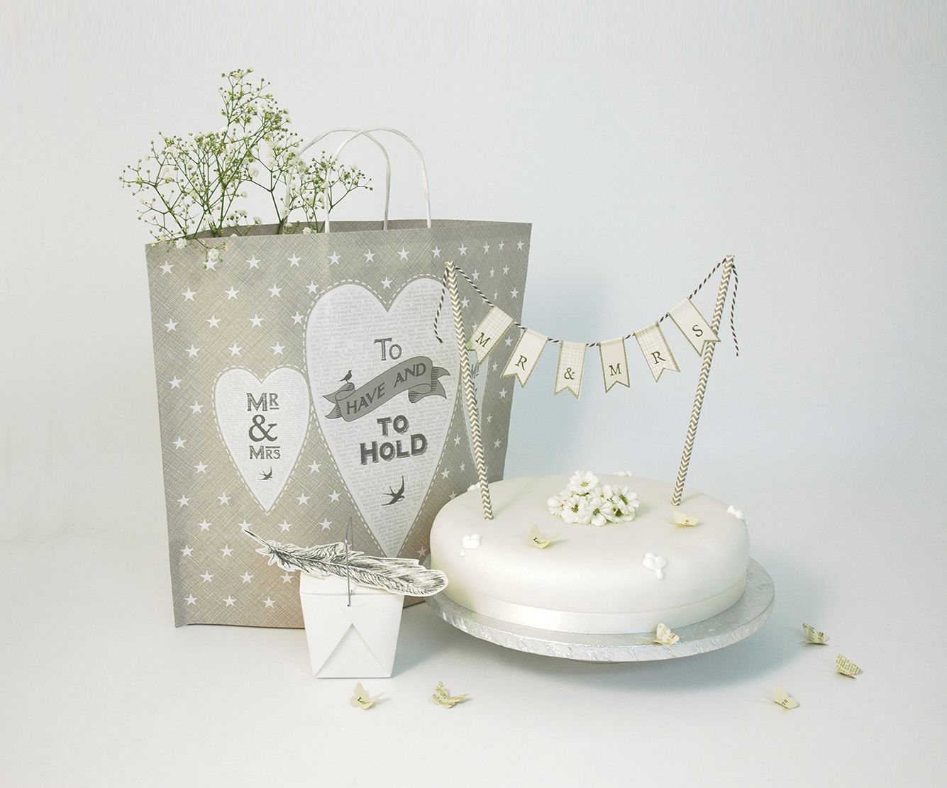 East of India To Have & To Hold Gift Bag (Code 5001) Mr & Mrs Cake ...