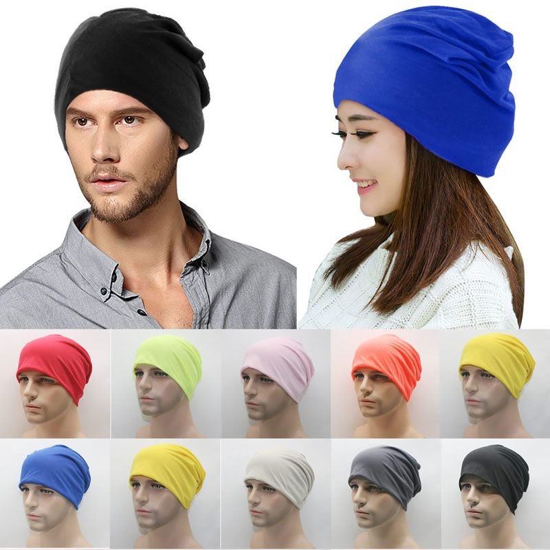 Click to Buy << Unisex Womens Men Knit Winter Warm Ski Solid cutton ...