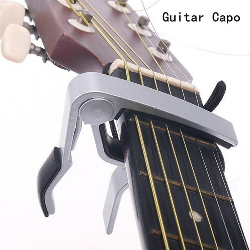 New Silver Quick Change Clamp Key Acoustic Classic Guitar Capo For Tone Adjusting For Electric Acoustic Guitar Ukulele Guitar Capo Classic Guitar Capos