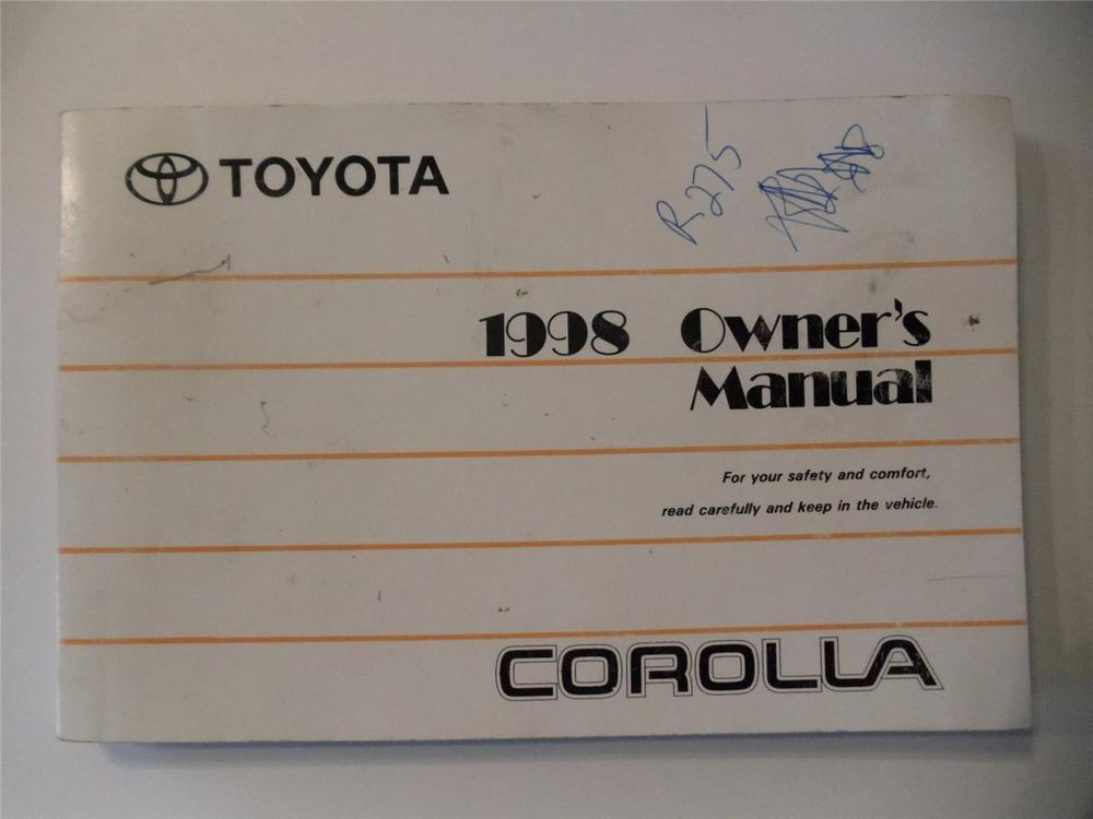 Check Ebay Deal Of Today Owners Manuals Toyota Corolla