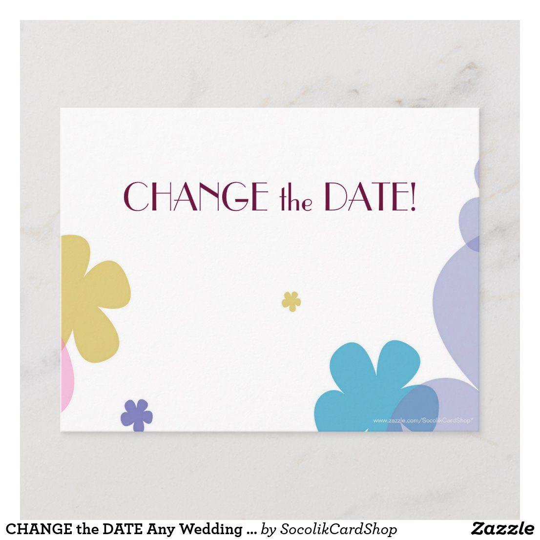 Change the date any wedding anniversary postcard zazzle