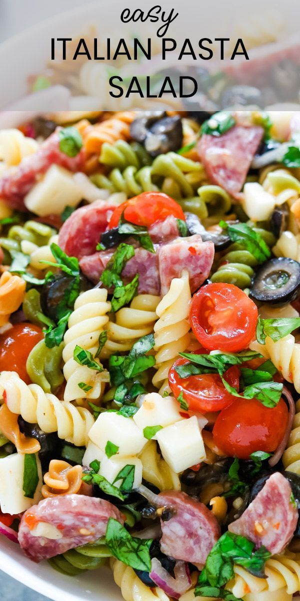 Photo of Italian Pasta Salad – Gal on a Mission