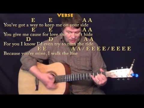 I Walk The Line Strum Guitar Cover Lesson With Lyricschords