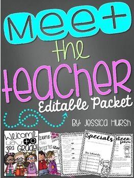 Meet the Teacher Night Editable Information Packet #meettheteachernight