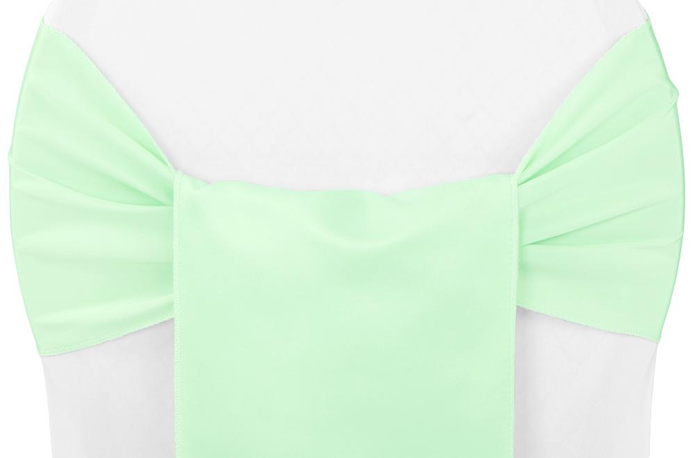 Lamour satin chair sash mint green chair sash mint