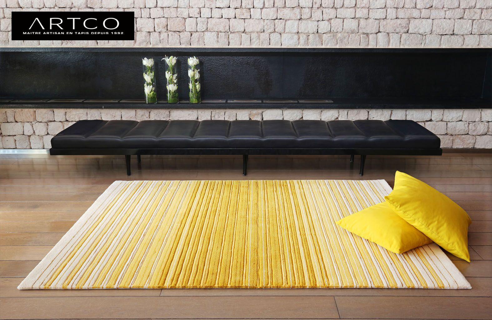 tapis design tapis jaune tapis moderne