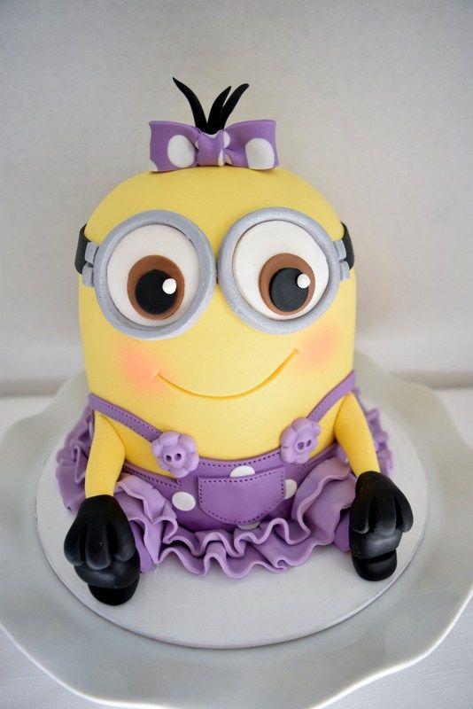 Girly Minion Cake