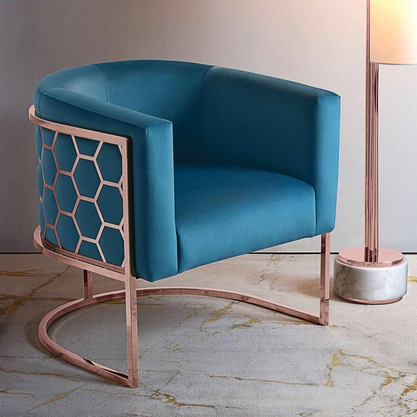 Copper tub chair this distinctive chair