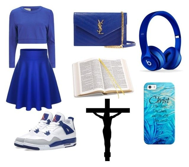 """""""Christ The Way, Life😃"""" by lifeissweet170000 on Polyvore featuring Beats by Dr. Dre, Lavish Alice, NIKE, Yves Saint Laurent, Aspinal of London and Casetify"""