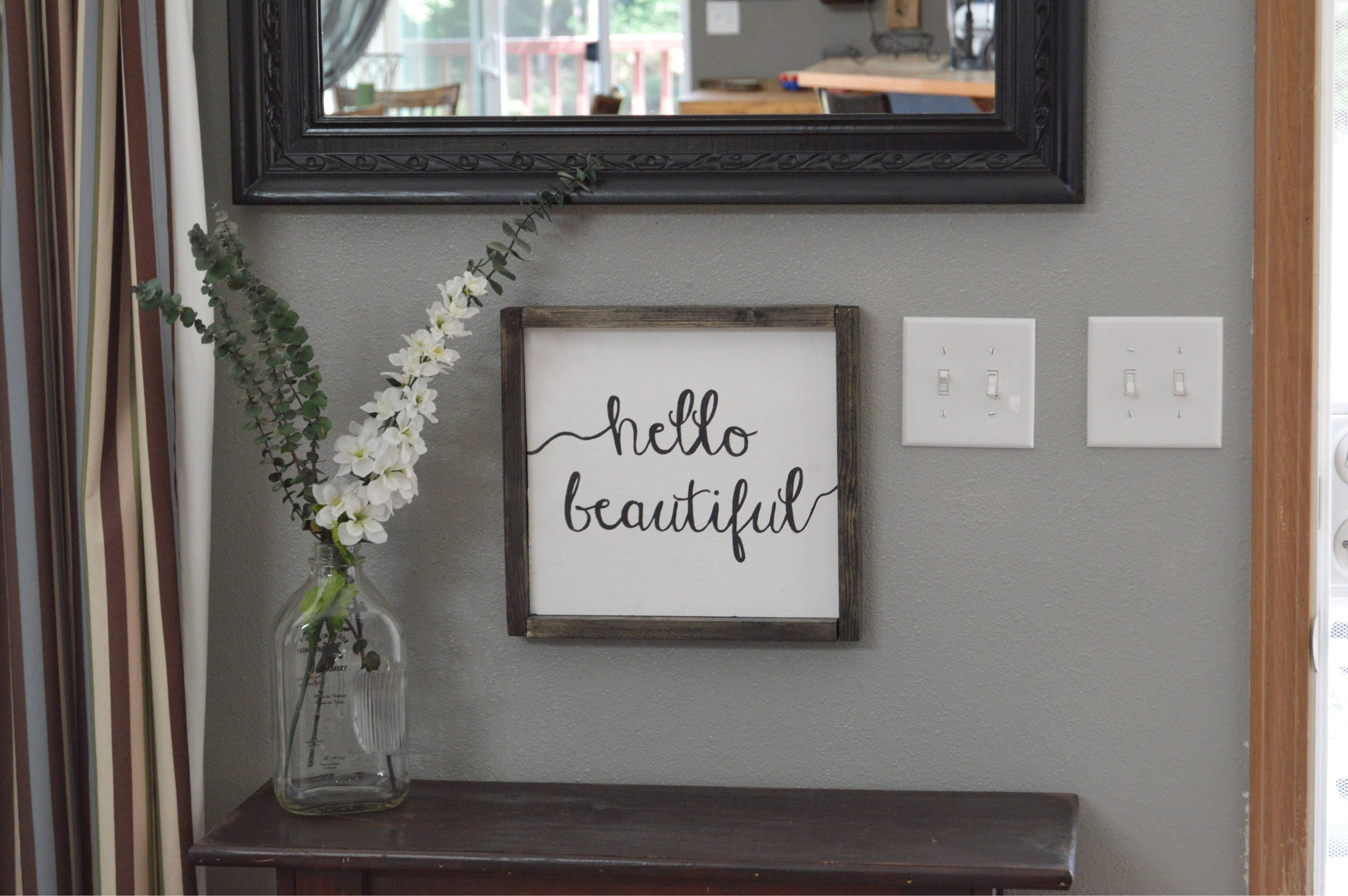 Hello Beautiful Sign  Hello Beautiful Wall Art  Beautiful