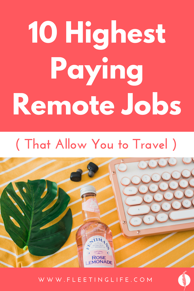 Here are the top 10 best remote jobs that pay a high