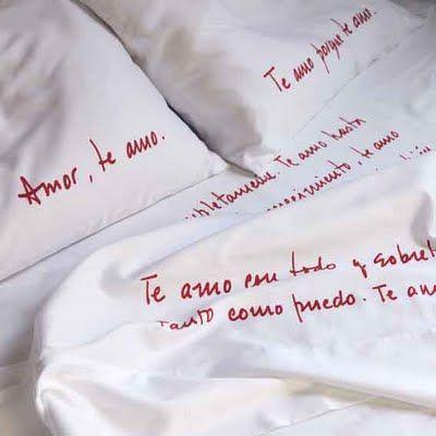 sabanas escritas | Ajuar de Camas | Pinterest | Ideas para, Fabrics ...