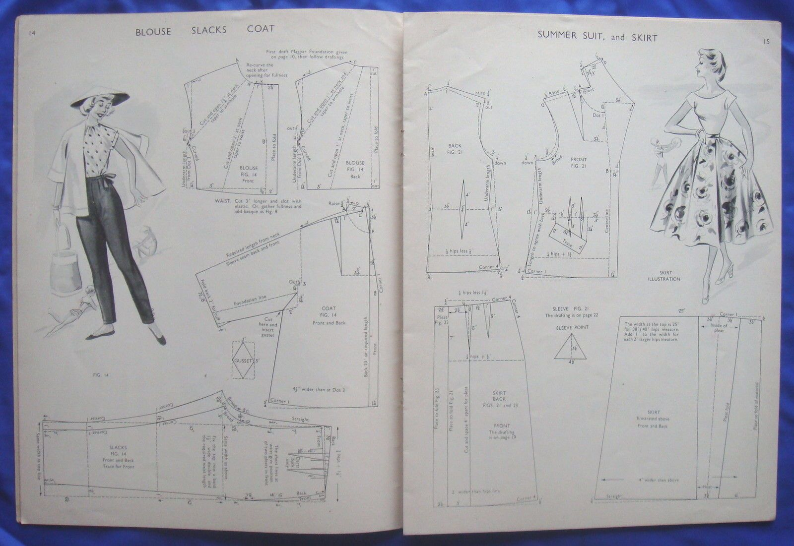 Vintage Haslam System Of Dresscutting Drafting System Sewing