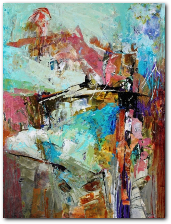 aabstract artist, conn ryder, abstract expressionism, colorado
