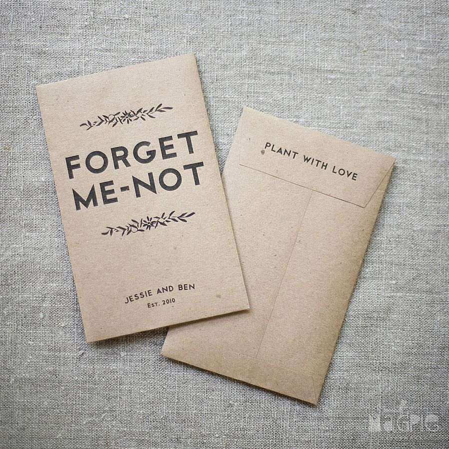 Image of Printable Seed Wedding Favors (Digital Template) | Wedding ...