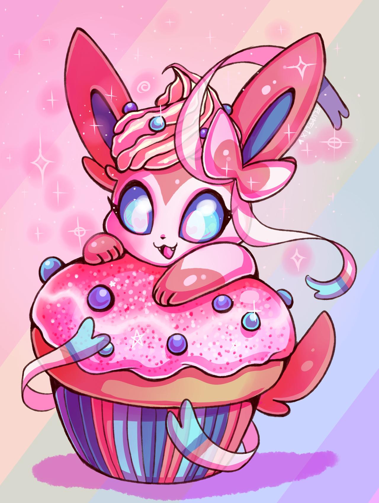 Sylveon cupcake