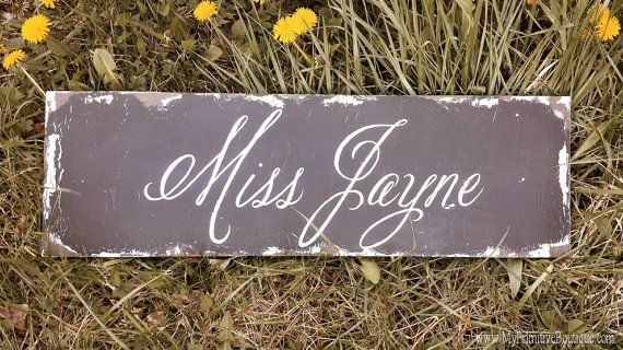Hand Painted Name Sign   Custom Sign   Vintage Home Decor   Gifts ...