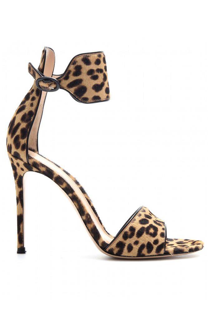 Gianvito Rossi Leopard strappy mules d0VAoue