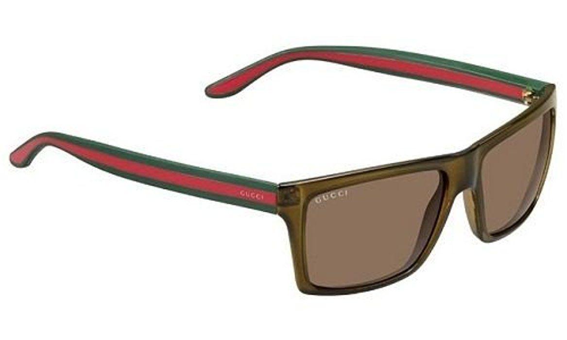 55ca0eb094 Gucci Gafas de sol Para Hombre 1013/S - 53U/SP: Verde marrón / rojo - verde
