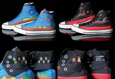 25th anniversary Super Mario Bros Chuck Taylor sneakers to