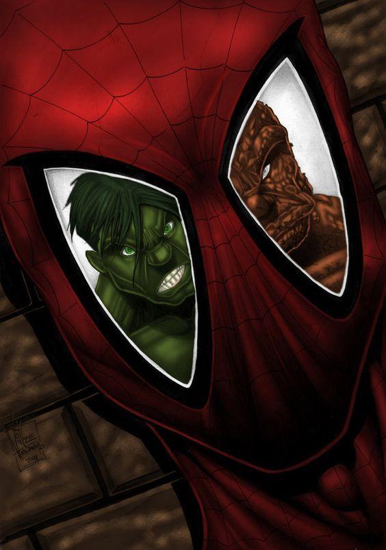 #Hulk #Fan #Art. (Spiderman Hulk Pencil Sketch) By: Vinz El Tabanas. ÅWESOMENESS!!!™ ÅÅÅ+