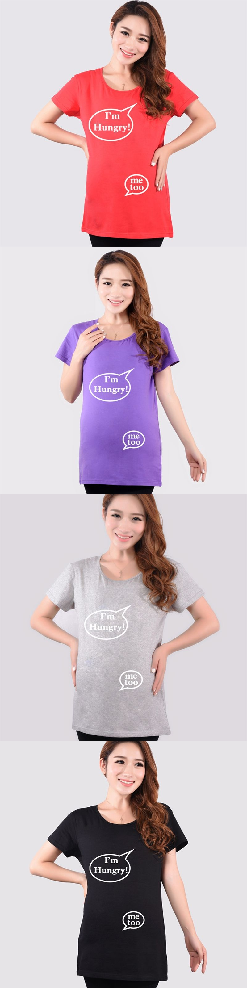 ce76cf9c26f Funny maternity tops soft cotton summer pregnancy shirts maternity clothes  for pregnant women 4color short sleeve
