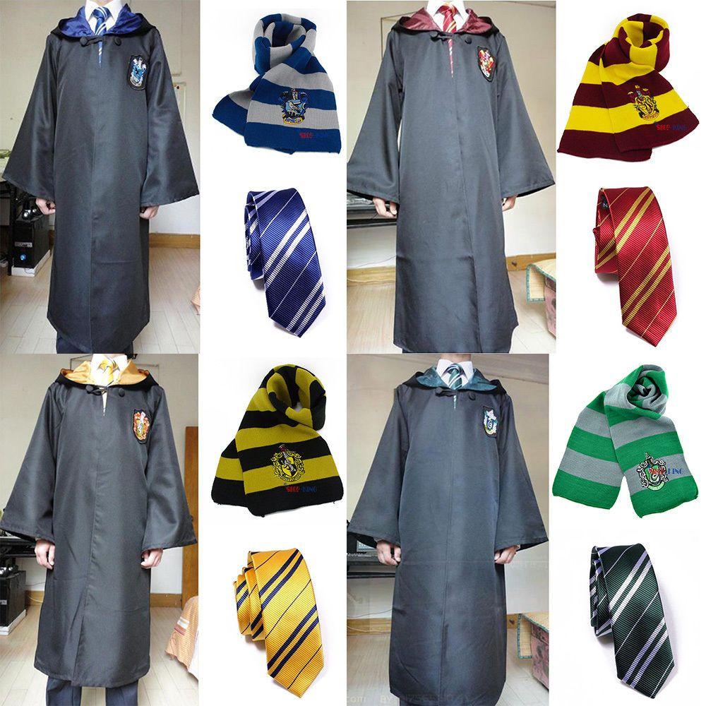 harry potter cloak tie scarf gryffindor hufflepuff. Black Bedroom Furniture Sets. Home Design Ideas