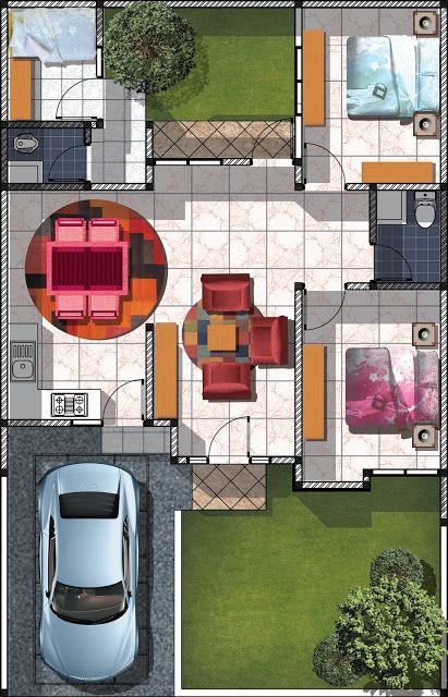 Gambar model denah minimalis type 72 Gambar Model Rumah