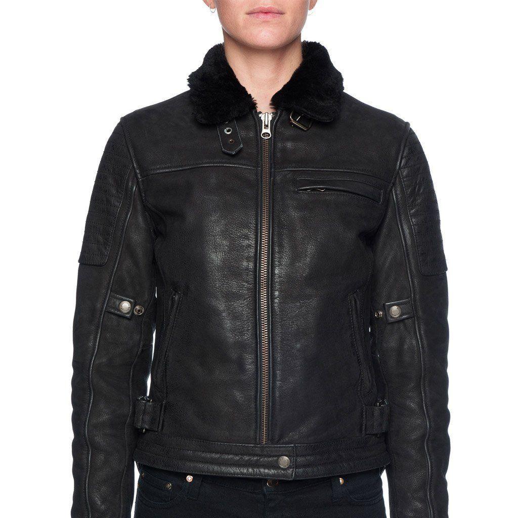 Night Hawk Nubuck Leather Jacket Black Leather jacket