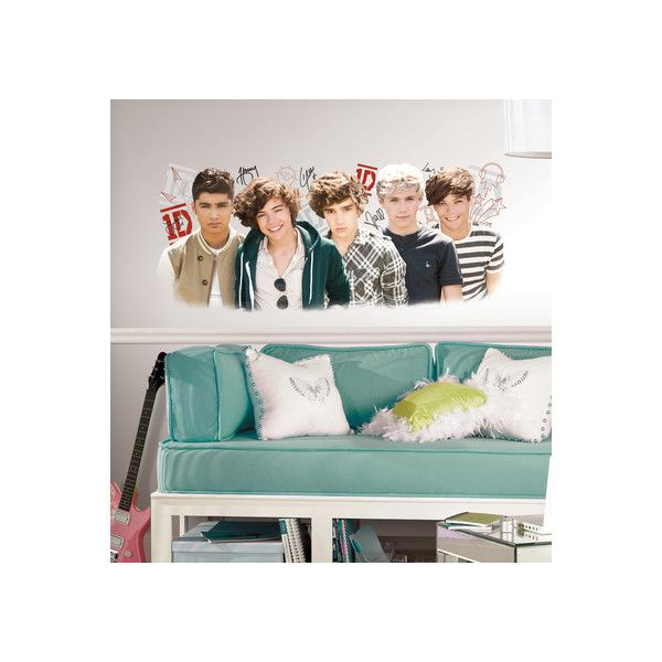 One Direction 1D Peel and Stick Wall Graphix Wall Art Decal ($20) ❤ liked on Polyvore