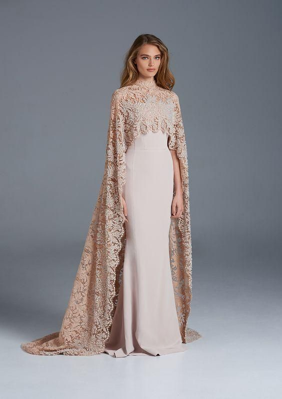 c90c46d857 Paolo Sebastian 2016 Gorgeous Mermaid Wedding Dresses with Beaded Lace Cape  Nigerian Muslim Wedding Gowns Custom Made