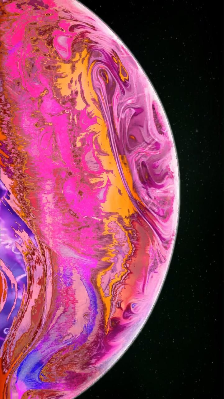 Pink Orange Aesthetic Planet