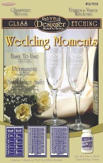 Armour Rub N Etch Wedding Moments 3 Stencils 12 7010 Glass Etching Patterns Wedding Moments Glass Etching Stencils