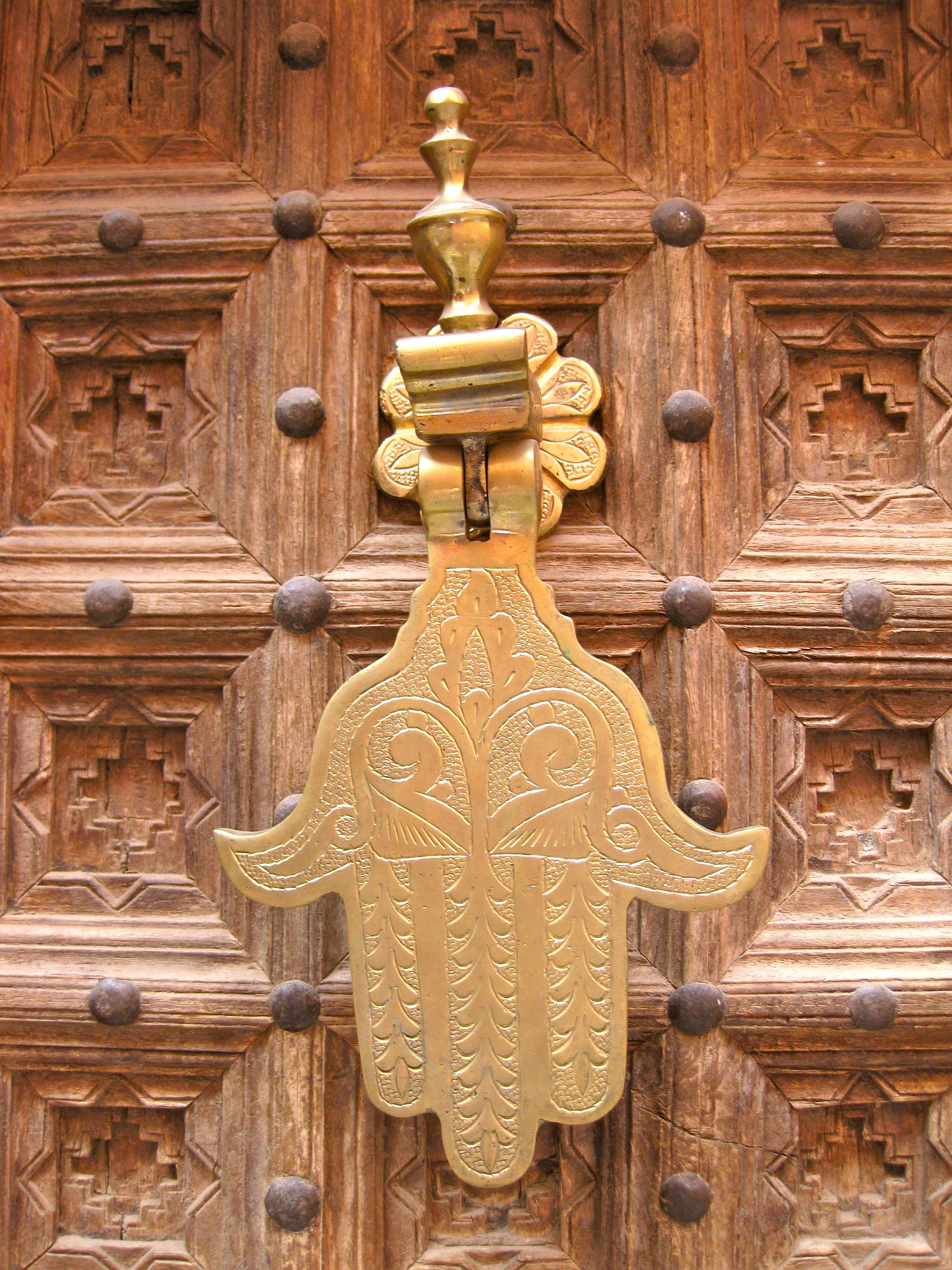 A hamsa door knocker in marrakech morocco places and things iuve