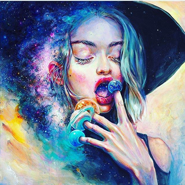 We were blown away By this amazing acrylic painting By @tanyashatseva Black Hole in the Milky Way A moment inside me is slowing down and lasts for eternity http://ift.tt/2Cc4Shq Follow @parts_of_culture for more art share your art with our community by using #partsofculture Tanya Shatseva is a traditional artist born in Russia in 1990. Currently resides in Saint Petersburg creating acrylic paintings and illustrations in the genre of pop surrealism. As a child Tanya has been moving all around…