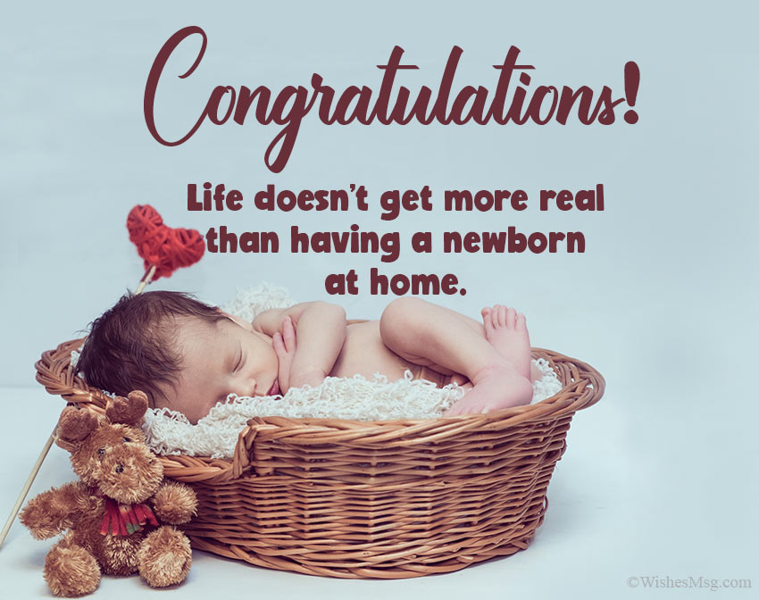 80 New Born Baby Wishes And Messages Wishesmsg Congratulations Baby Baby Congratulations Messages Newborn Baby Quotes