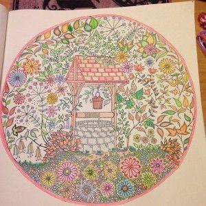 2019 年の秘密の花園 塗り絵 美しい作品 見本 塗り方 コツ マスター