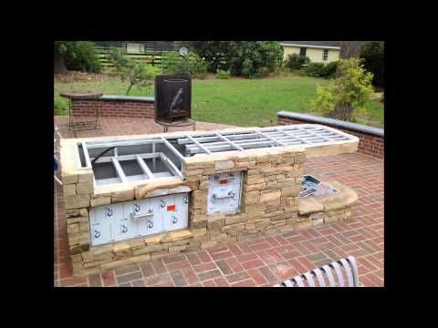 How to build a bbq grilling station or grill surround for Outdoor cooking station plans