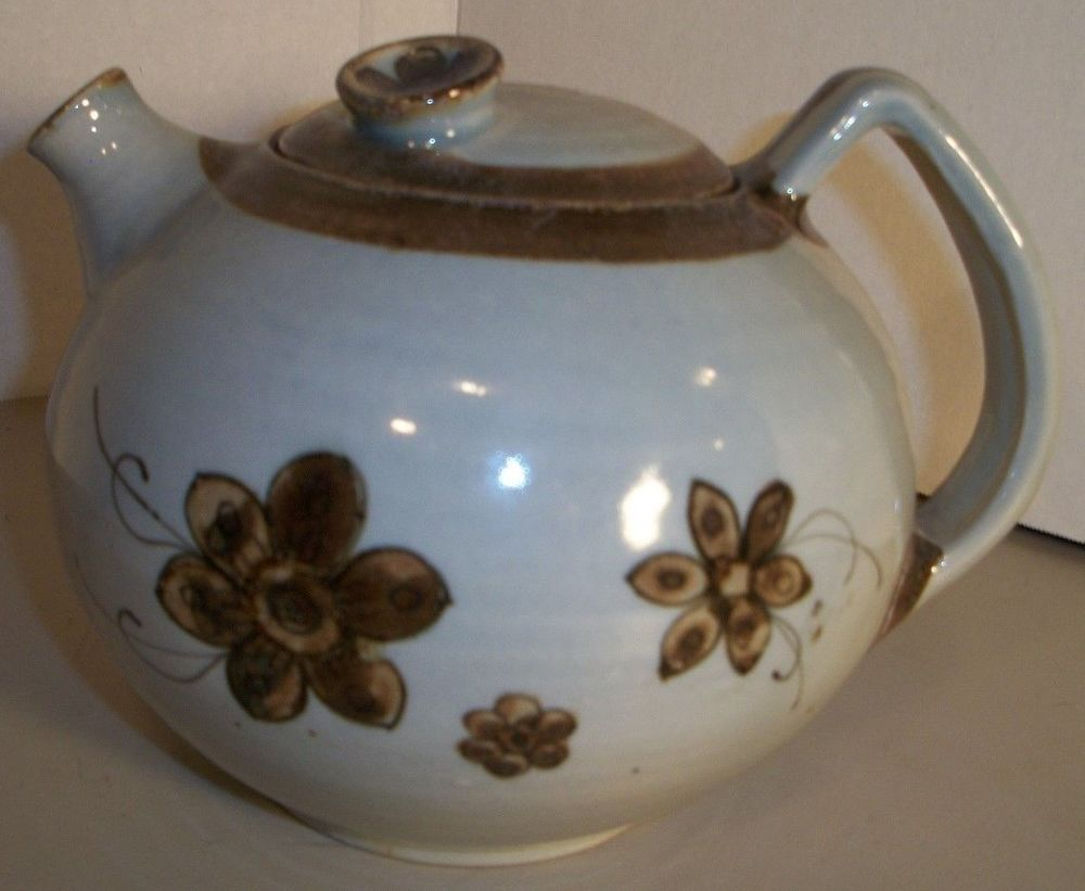 Ken Edwards Pottery Teapot Veracruz Mexico Vintage Signed Rare Folk Art Design Kennethedwards Tea Pots Pottery Teapots Vintage Pottery