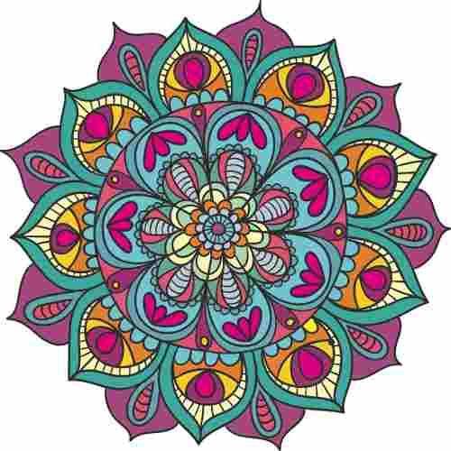 Vinilo decorativo mandala gigante 100cm color - Colores para mandalas ...