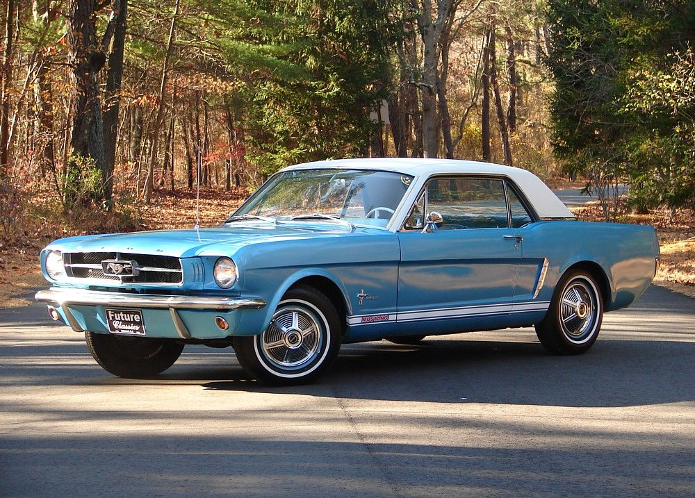 1965 Ford Mustang Mine looked this this except a black top and spoke ...