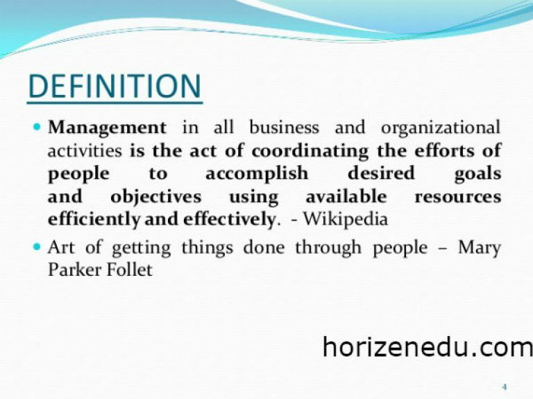 Business Management Definition Styles + Skill Education